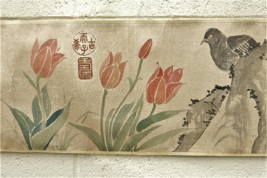 Chinese Zhimian Zhou Ming Dynasty Scroll Painting - 3