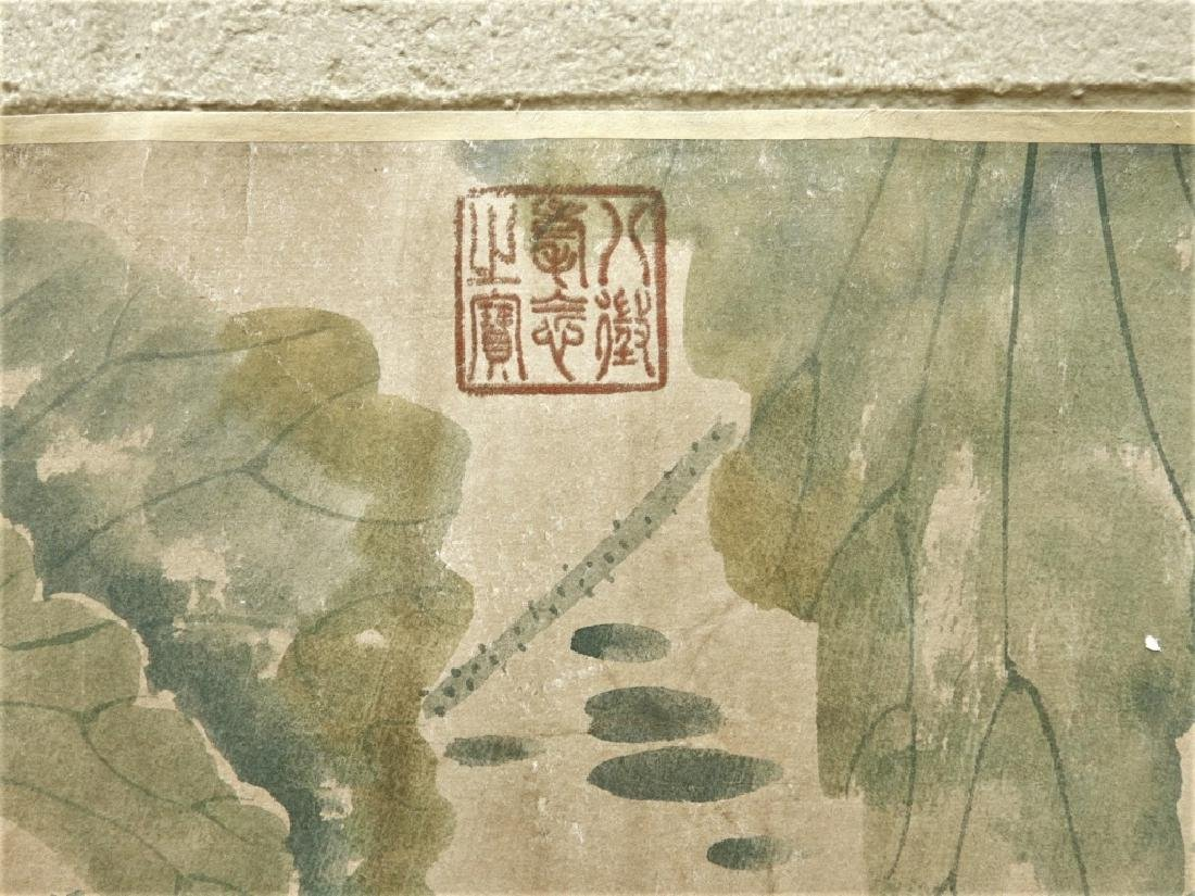 Chinese Zhimian Zhou Ming Dynasty Scroll Painting - 5
