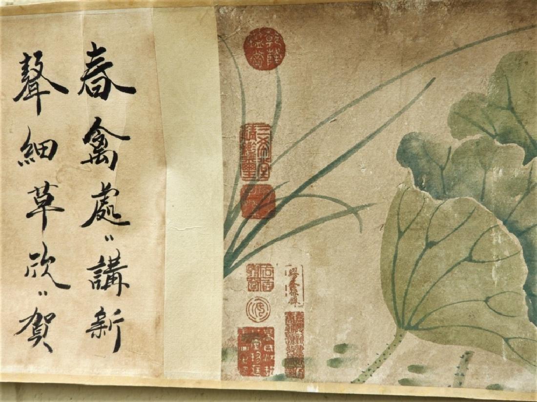 Chinese Zhimian Zhou Ming Dynasty Scroll Painting - 7