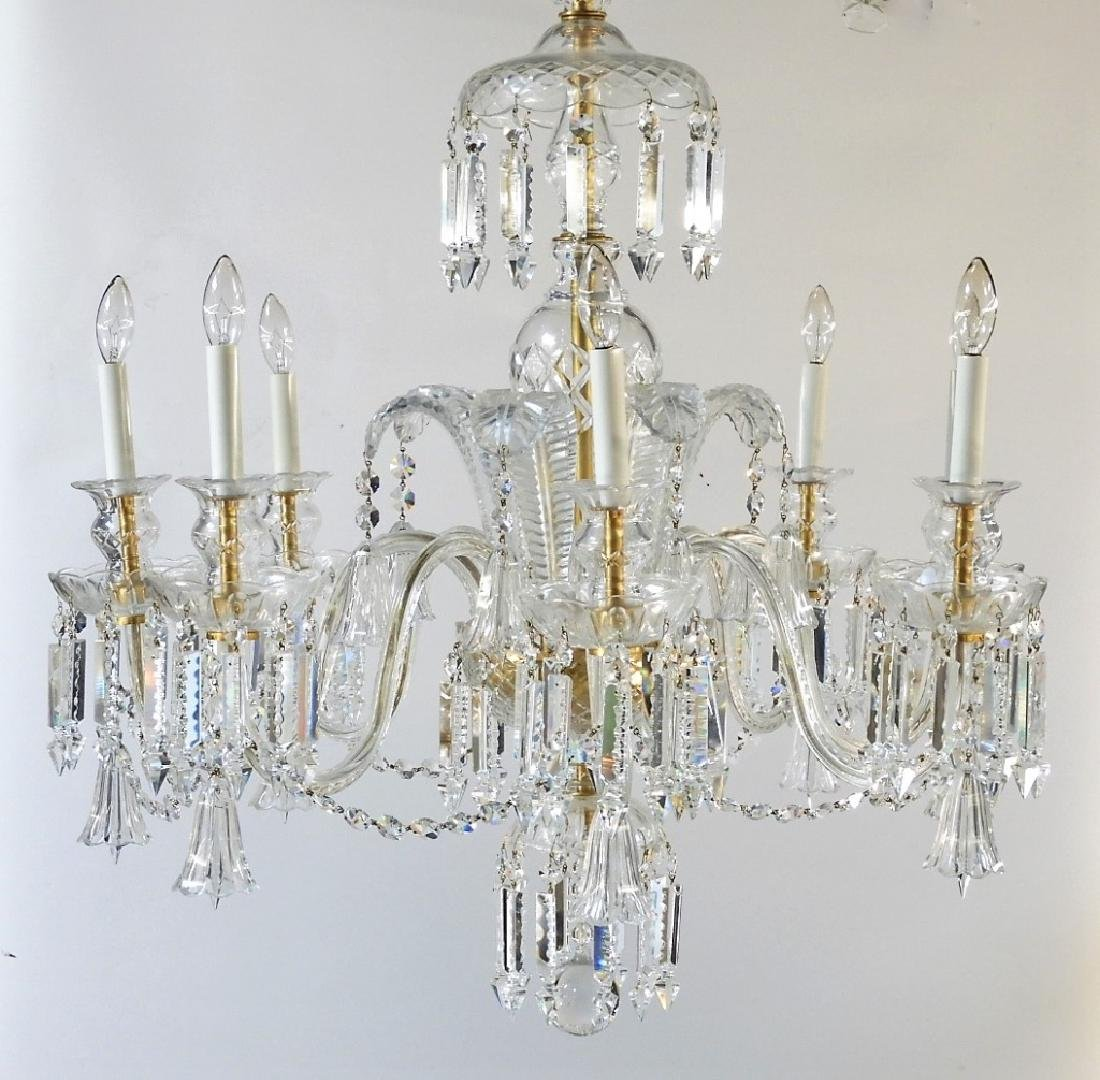 FINE Waterford or Baccarat Cut Crystal Chandelier