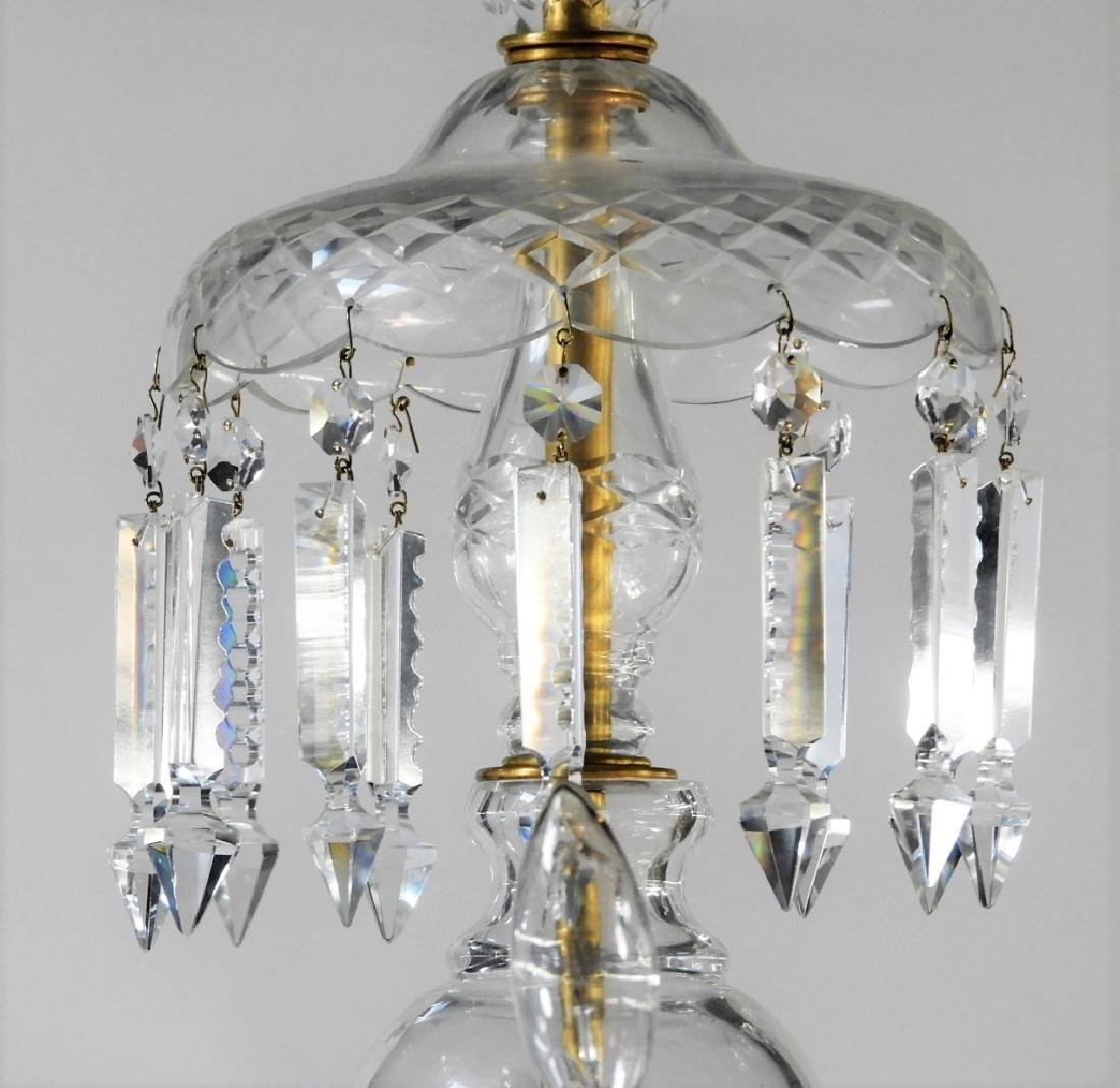 FINE Waterford or Baccarat Cut Crystal Chandelier - 2