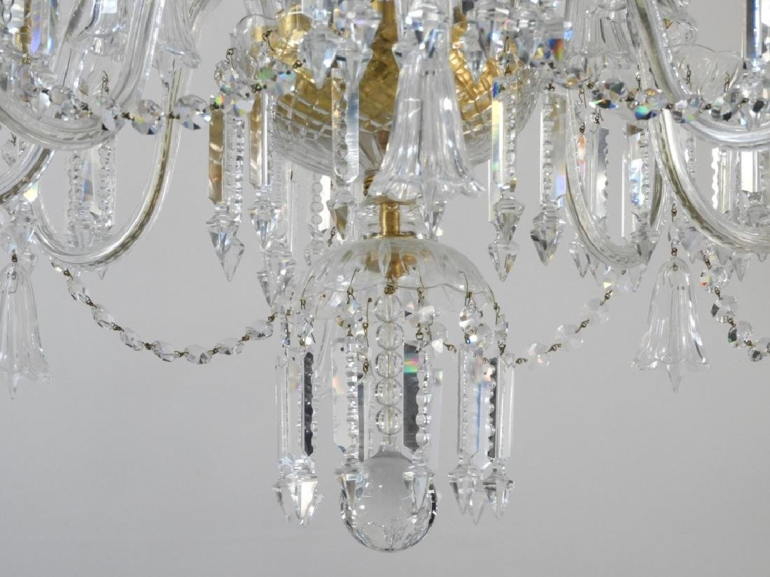 FINE Waterford or Baccarat Cut Crystal Chandelier - 5