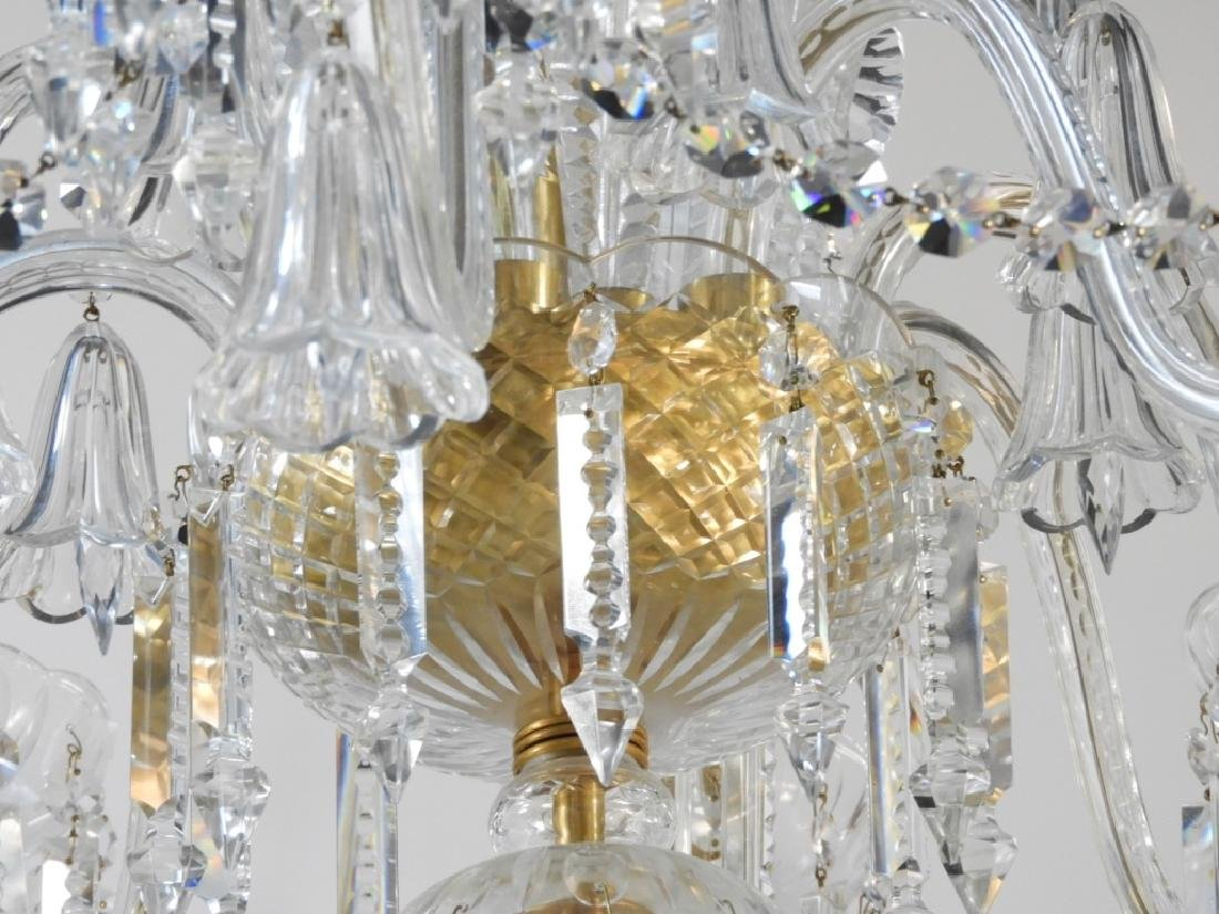 FINE Waterford or Baccarat Cut Crystal Chandelier - 6