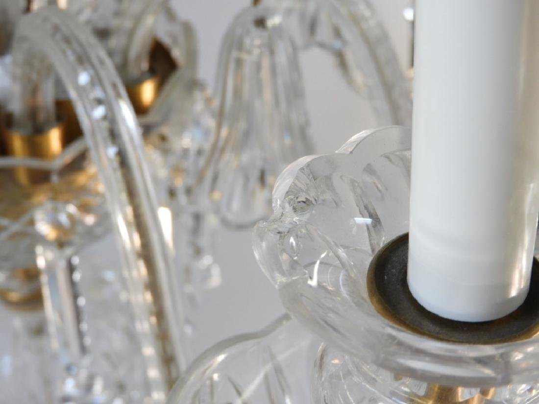 FINE Waterford or Baccarat Cut Crystal Chandelier - 7