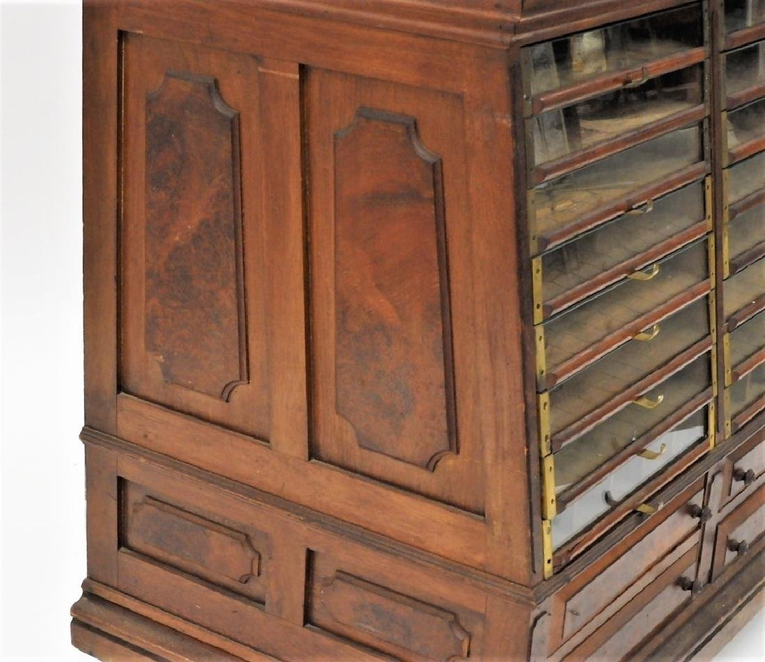 Country Store Glass Door Spool Thread Cabinet - 4