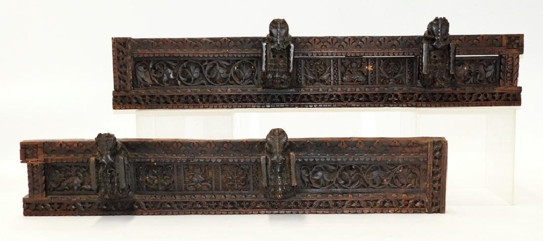 PR 19C Indian Hardwood Figural Architectural Panel