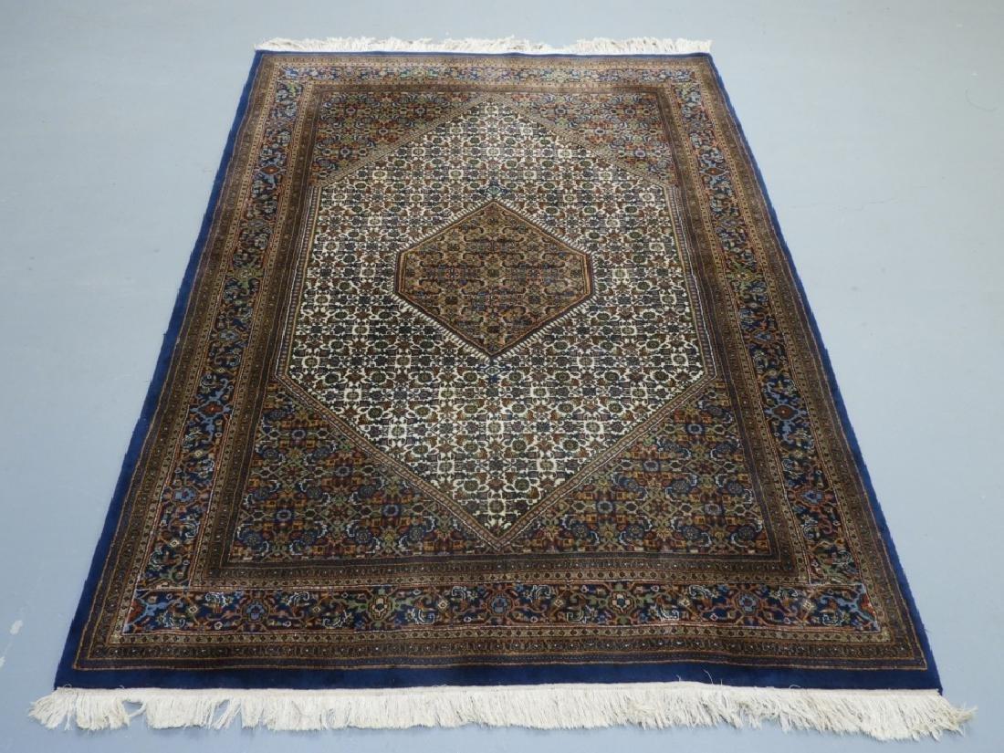 Oriental Persian Navy Wool Carpet Rug
