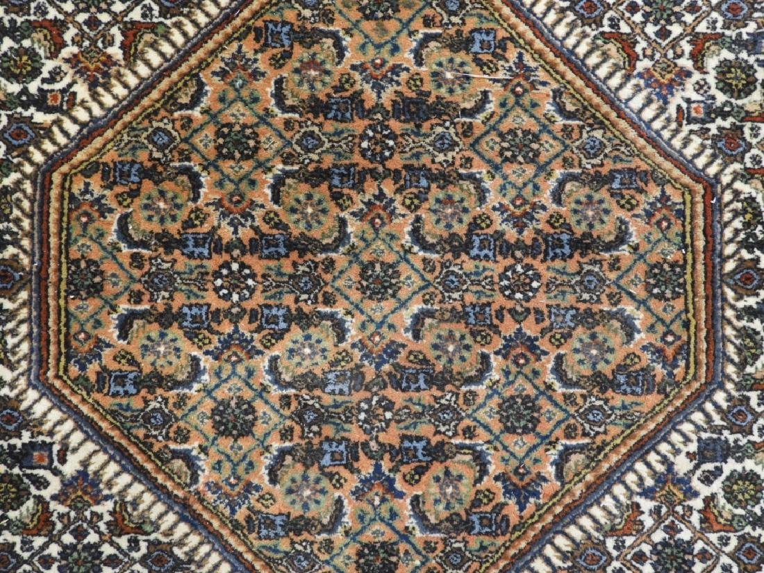 Oriental Persian Navy Wool Carpet Rug - 3