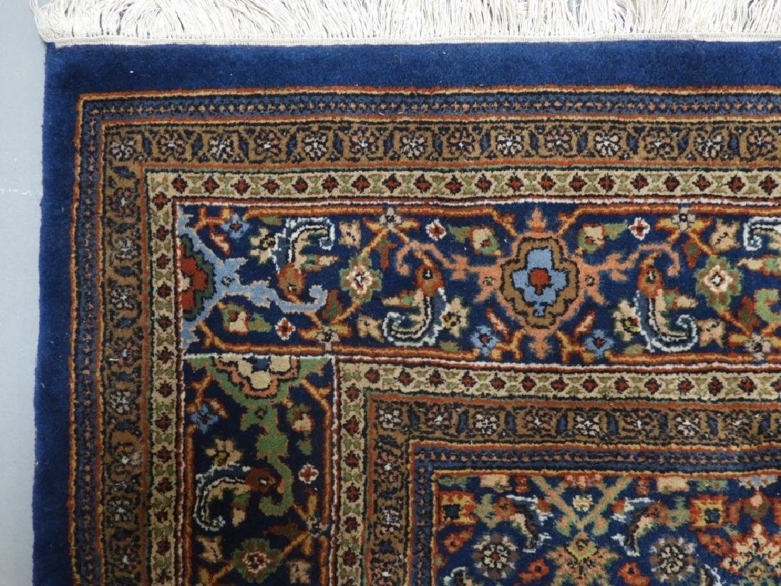 Oriental Persian Navy Wool Carpet Rug - 5