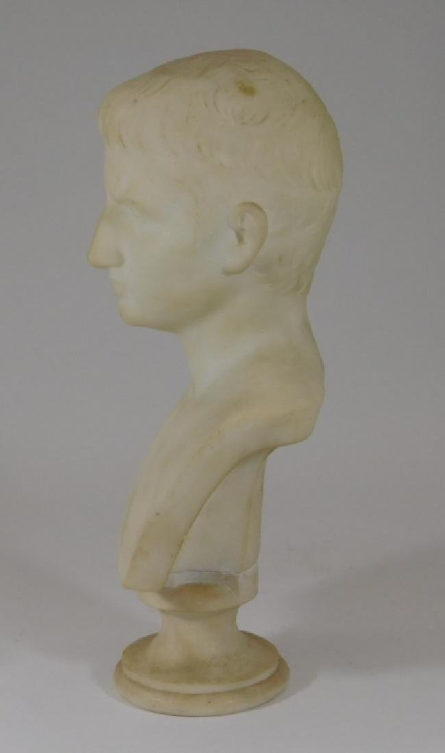 19C. Italian Grand Tour Young Augustus Marble Bust - 3