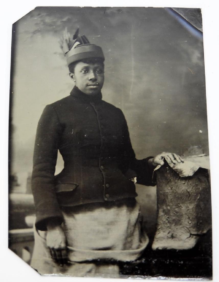 6 19C. Black Americana Tintype Photographs - 2