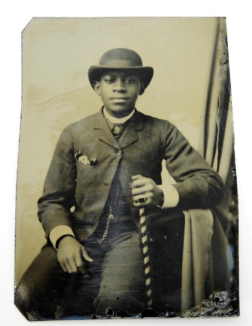 6 19C. Black Americana Tintype Photographs - 5