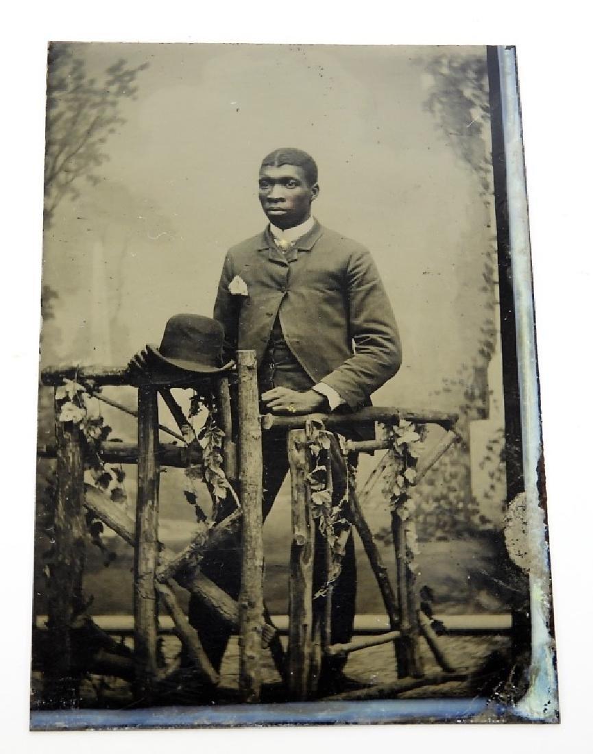 6 19C. Black Americana Tintype Photographs - 6