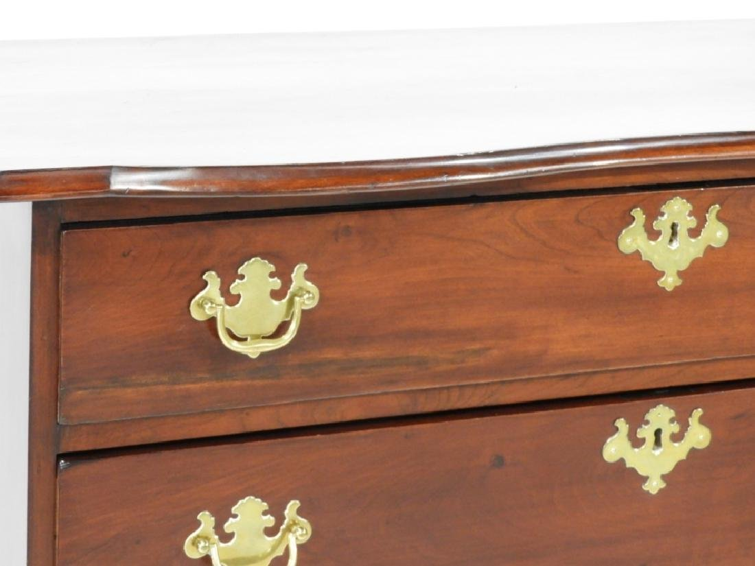 18C Boston Chippendale Cherry Four Draw Chest - 2