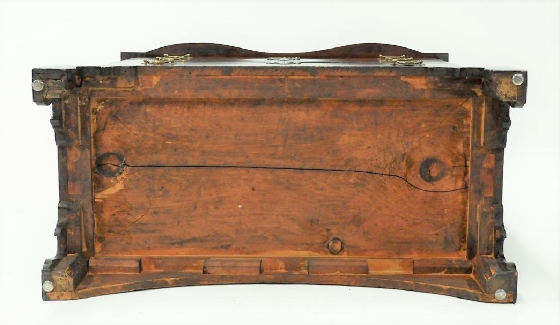18C Boston Chippendale Cherry Four Draw Chest - 9