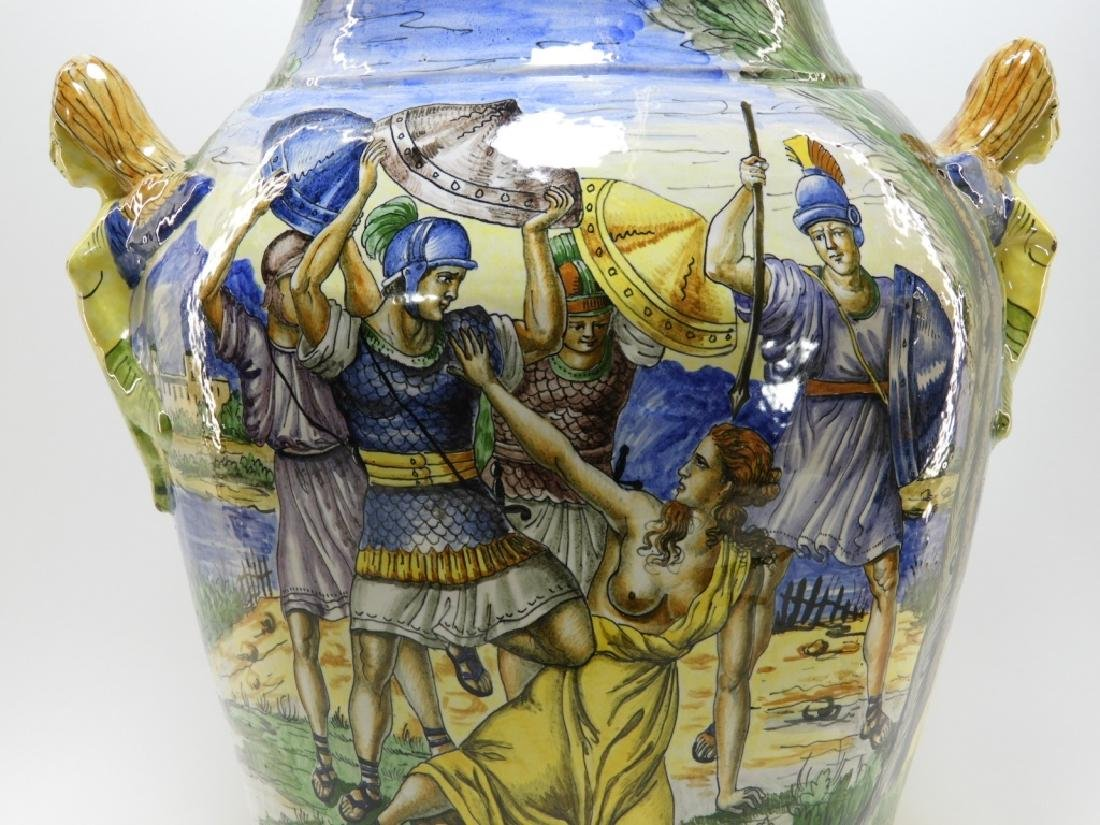 Italian Faience Tin Glaze Pottery Battle Vase - 2