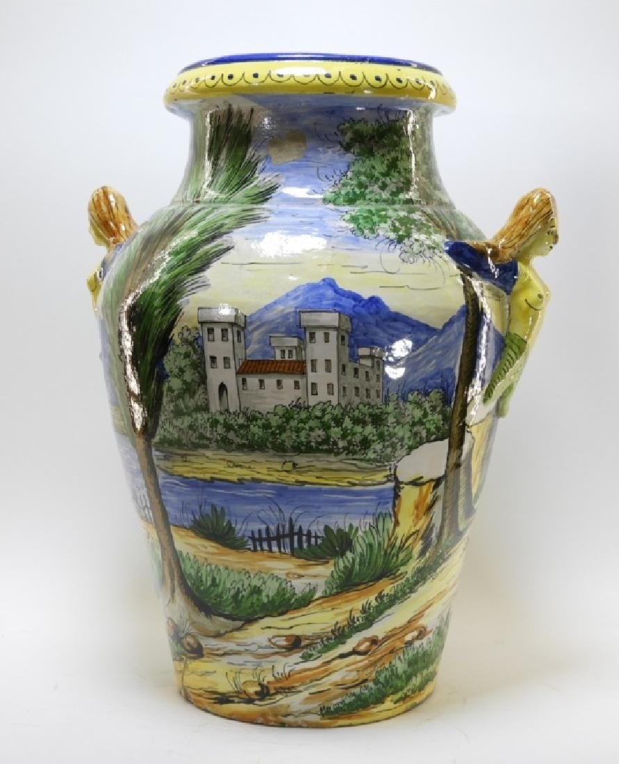 Italian Faience Tin Glaze Pottery Battle Vase - 5
