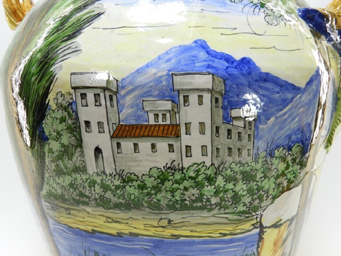 Italian Faience Tin Glaze Pottery Battle Vase - 6