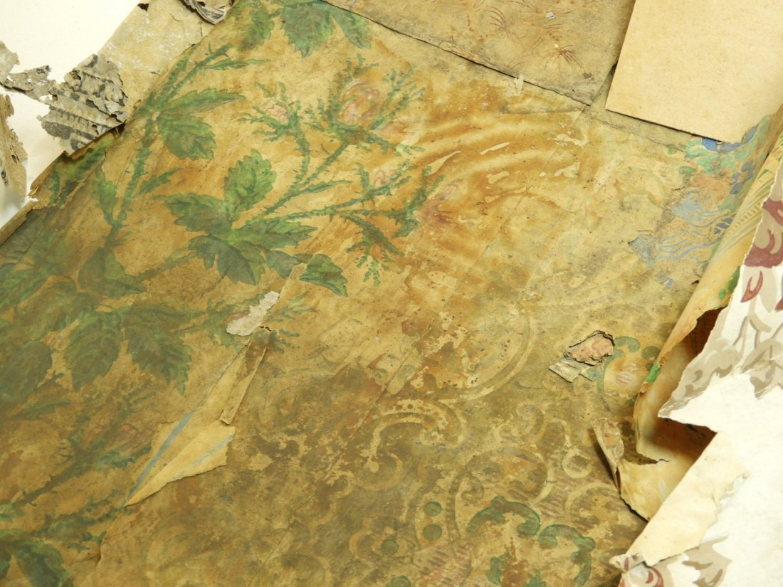 Colonial Newport RI Painted Wallpaper Fragments - 5