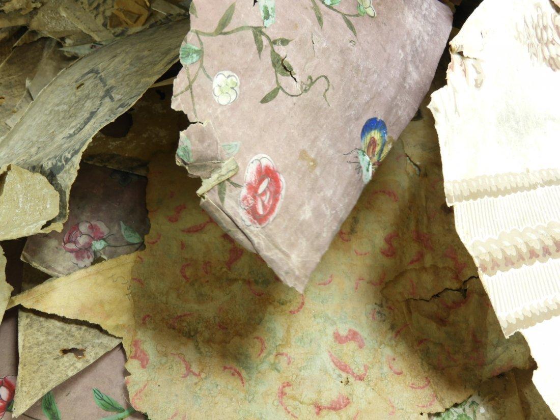 Colonial Newport RI Painted Wallpaper Fragments - 9
