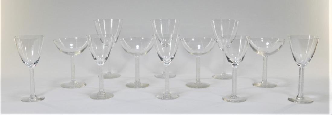 12PC Lalique Crystal Phalsbourgh Glasses Flutes