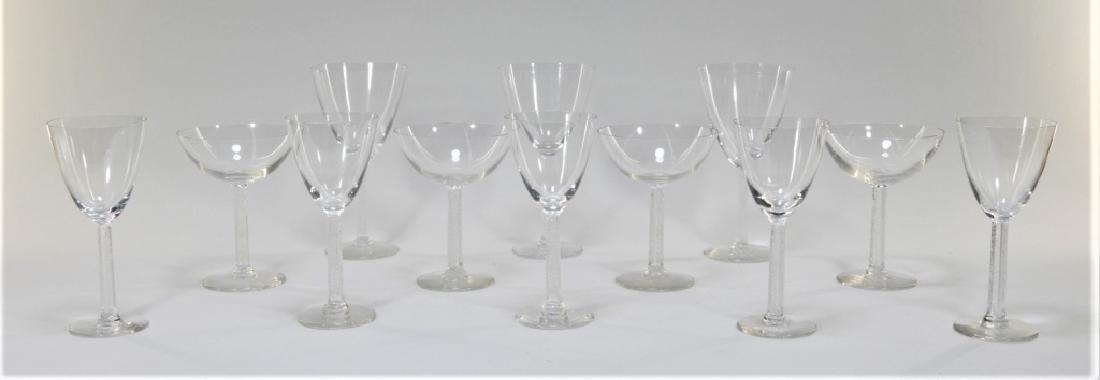 12PC Lalique Crystal Phalsbourgh Glasses Flutes