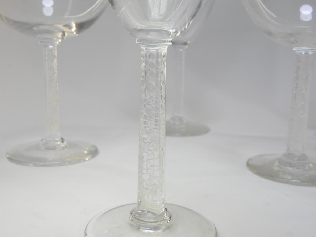 12PC Lalique Crystal Phalsbourgh Glasses Flutes - 2