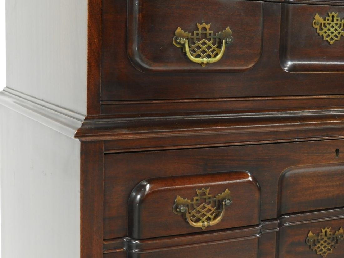 Maddox Chippendale Block Front Chest on Chest - 5