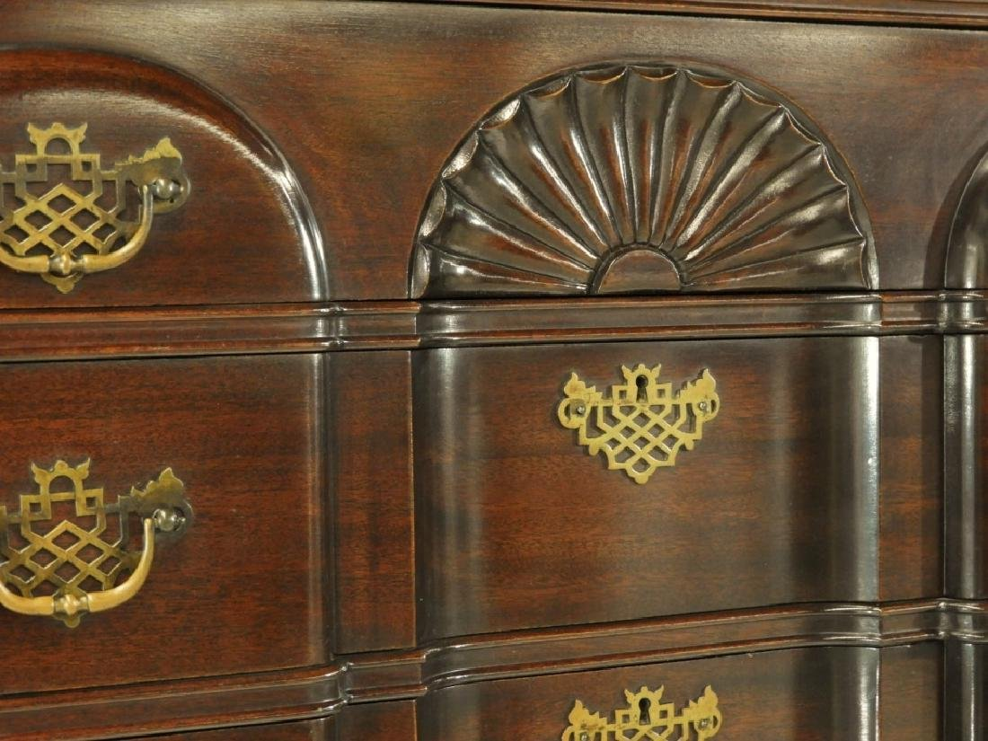 Maddox Chippendale Block Front Chest on Chest - 6