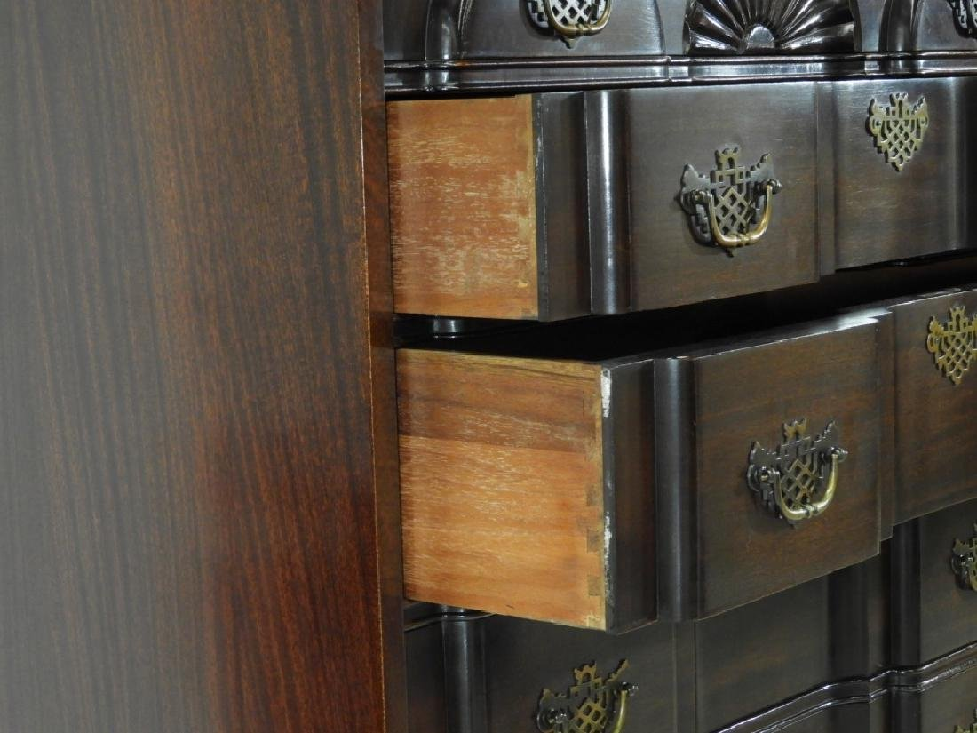 Maddox Chippendale Block Front Chest on Chest - 7