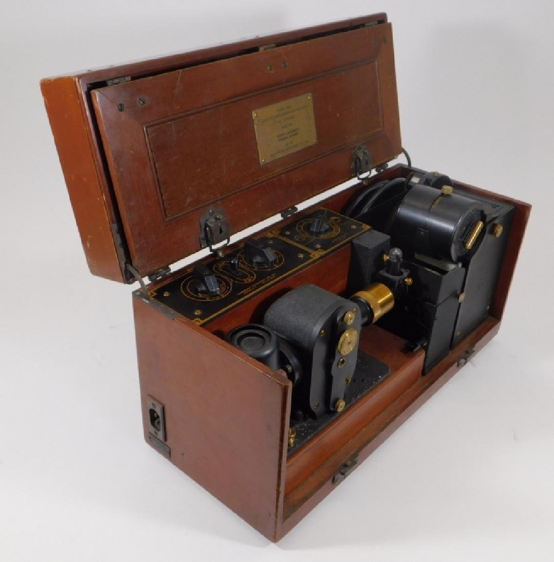 Antique Electrocardiograph Machine in Wood Box - 4