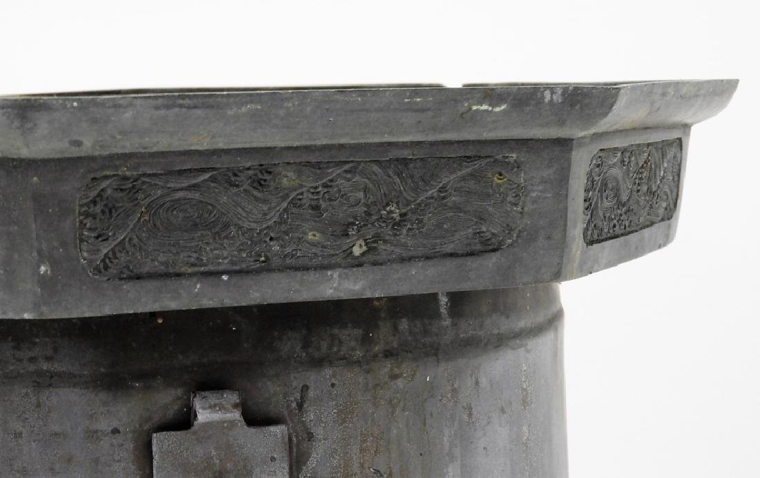 Chinese Paktong Ceremonial Temple Censer - 3