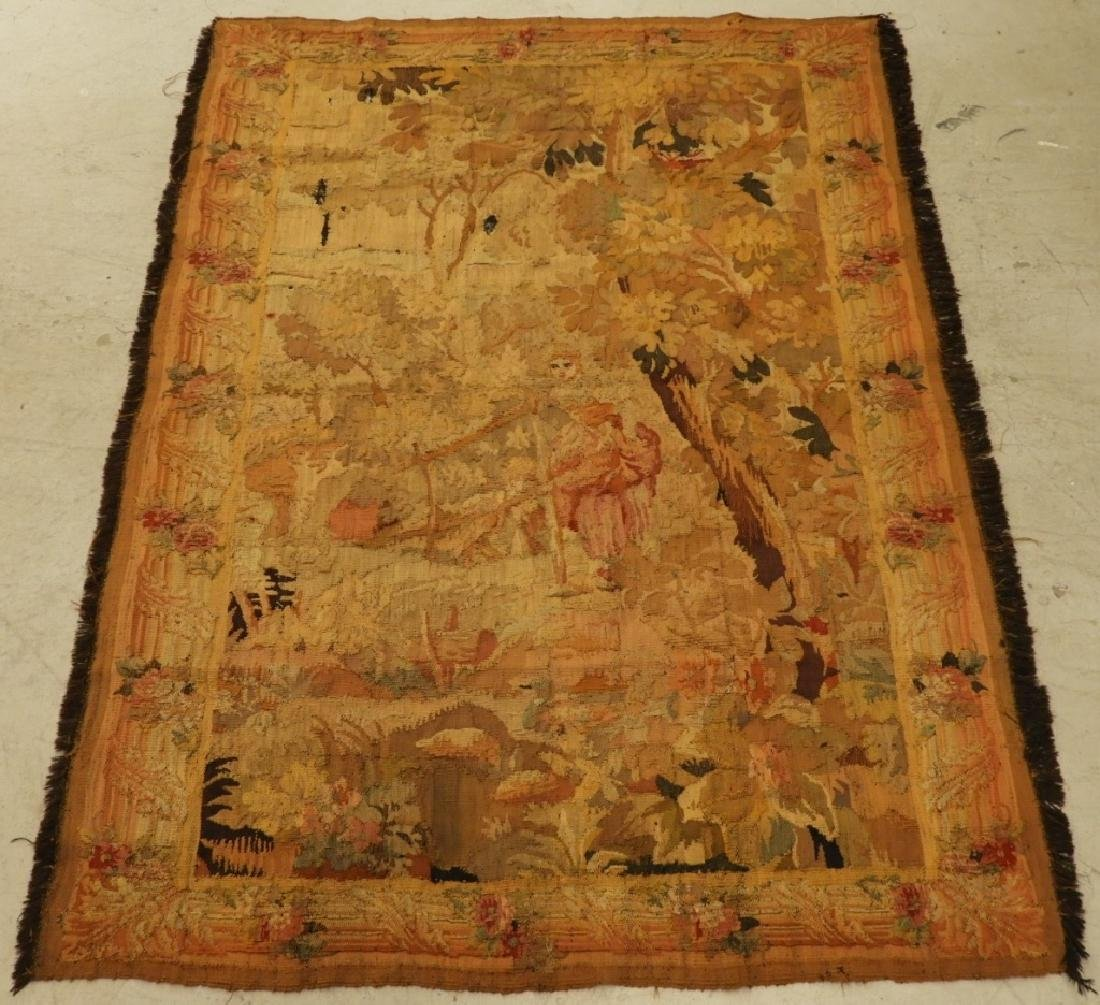 17C. French Scenic Wall Hanging Tapestry Textile