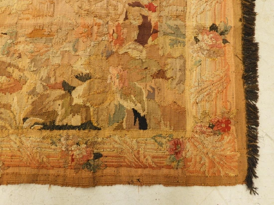 17C. French Scenic Wall Hanging Tapestry Textile - 7