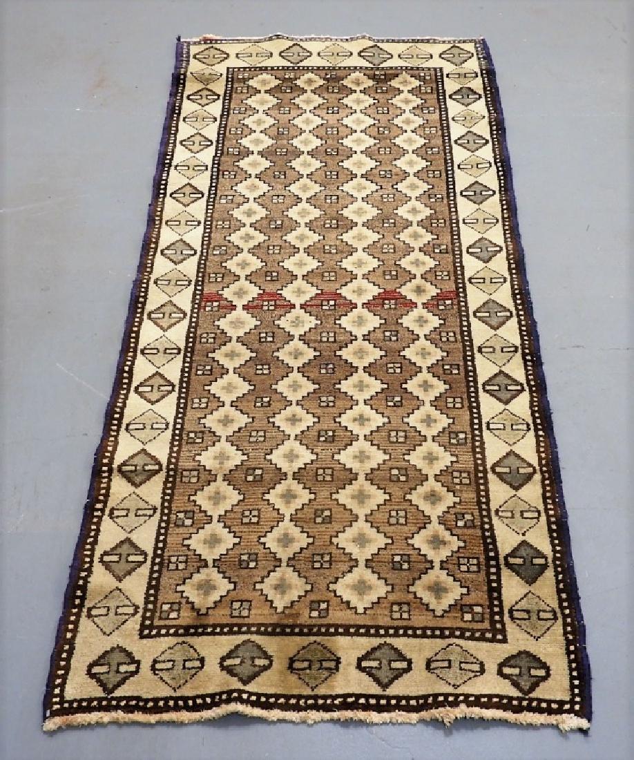 Oriental Persian Tribal Wool & Cotton Rug Runner