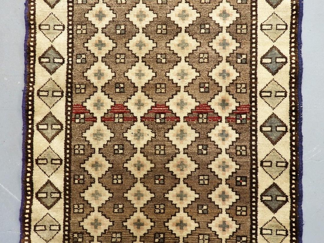 Oriental Persian Tribal Wool & Cotton Rug Runner - 2