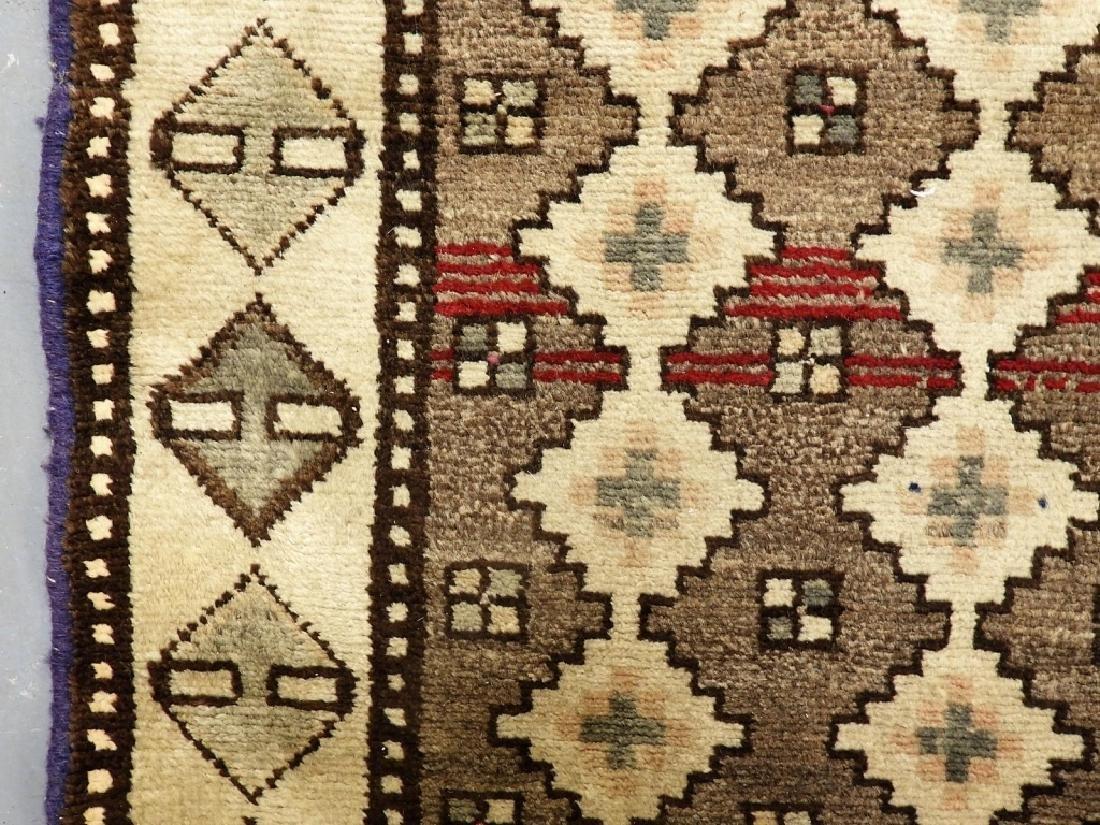 Oriental Persian Tribal Wool & Cotton Rug Runner - 3