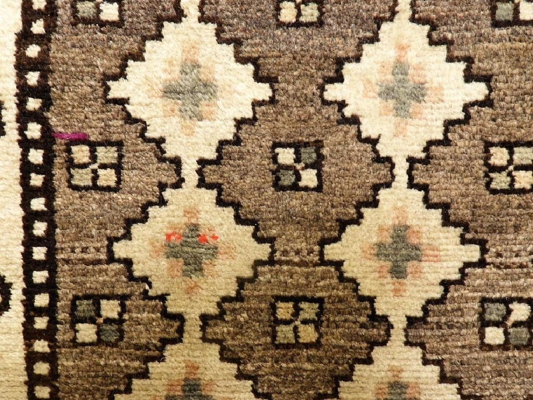 Oriental Persian Tribal Wool & Cotton Rug Runner - 4