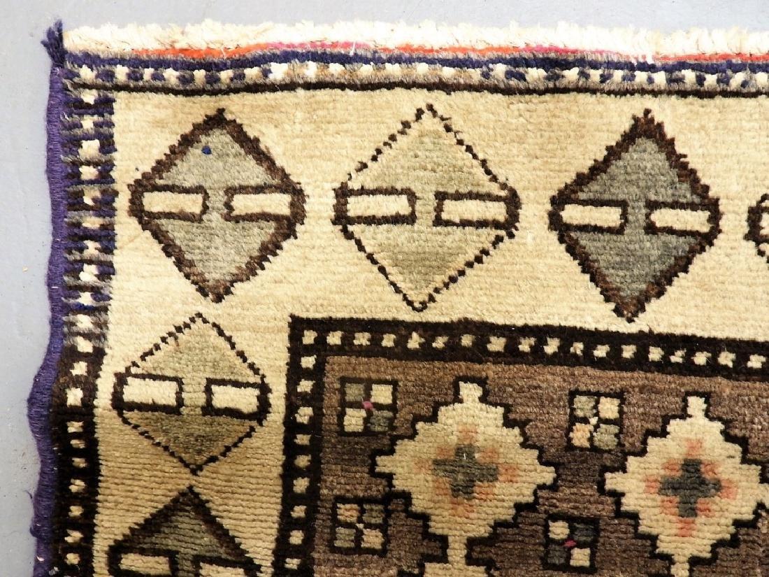 Oriental Persian Tribal Wool & Cotton Rug Runner - 5