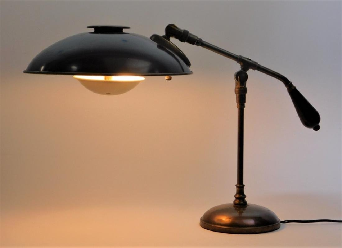 American Art Deco Industrialist Saucer Desk Lamp