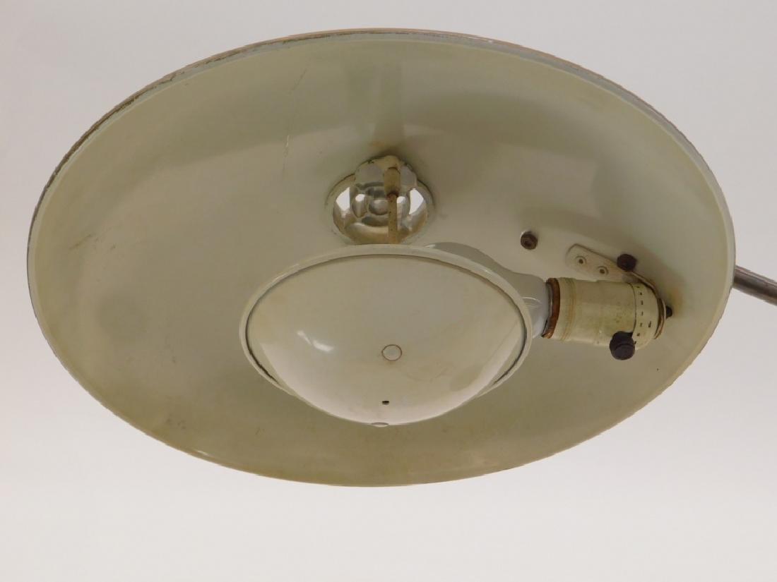 American Art Deco Industrialist Saucer Desk Lamp - 6