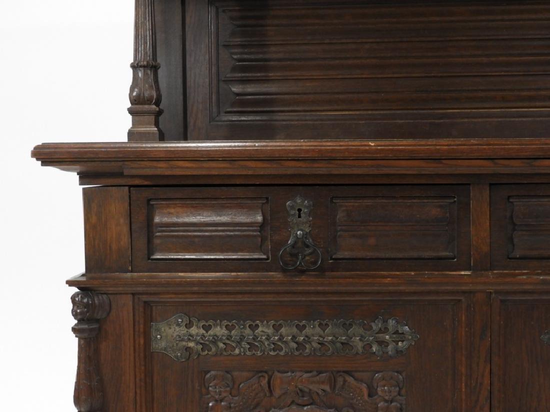 English Renaissance Oak Carved Hunt Board Server - 3