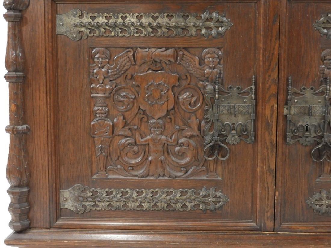 English Renaissance Oak Carved Hunt Board Server - 4