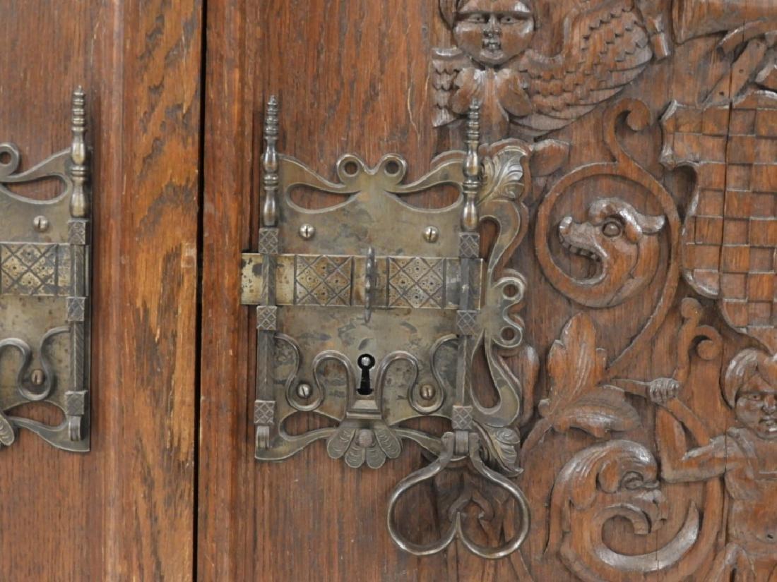 English Renaissance Oak Carved Hunt Board Server - 5