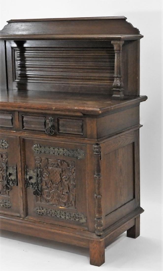 English Renaissance Oak Carved Hunt Board Server - 6
