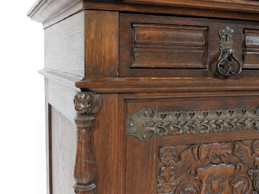 English Renaissance Oak Carved Hunt Board Server - 7