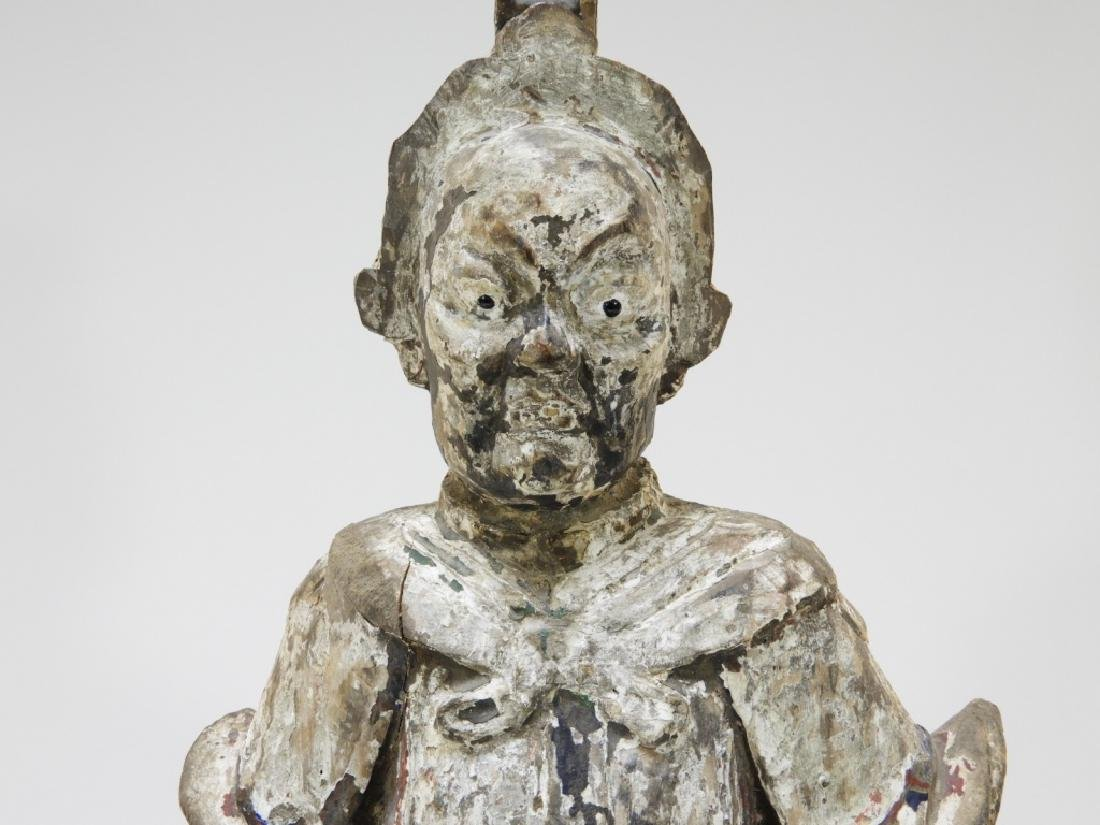 Chinese Ming Dynasty Polychrome Figure of Warrior - 2