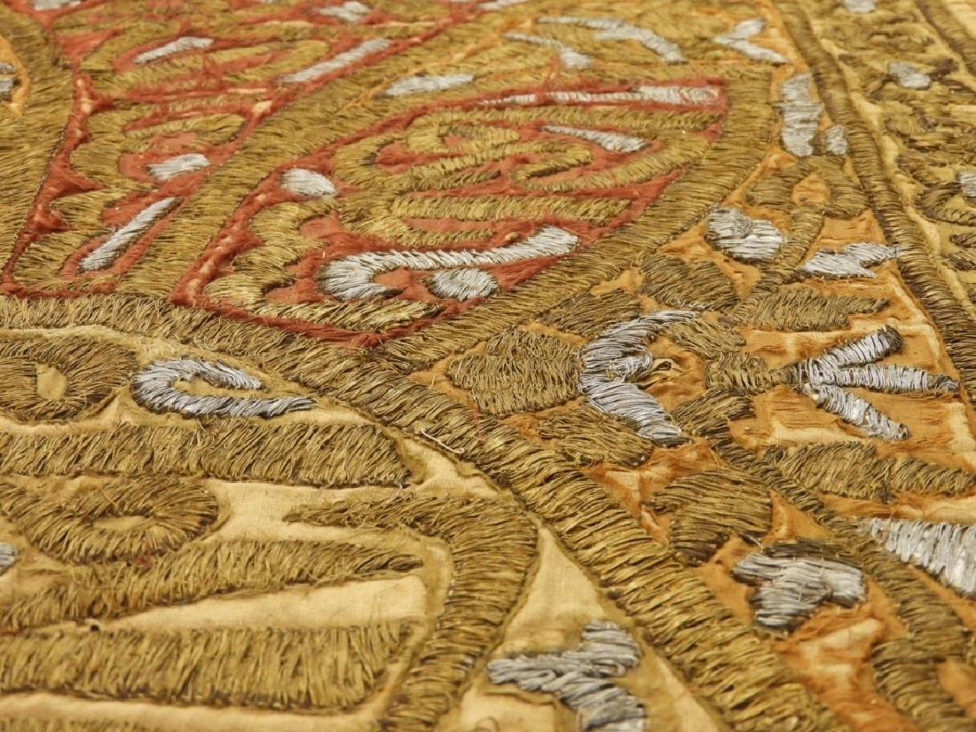 18C Turkish Oriental Gold Silver Thread Tapestry - 5