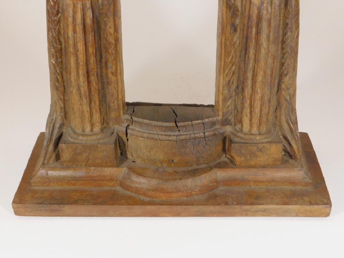 19C.SE Asian Hardwood Reliquary Temple Frame - 3