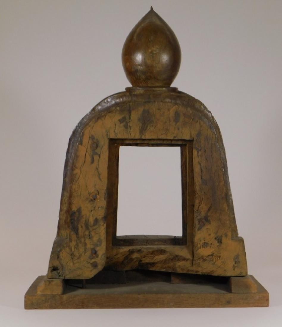 19C.SE Asian Hardwood Reliquary Temple Frame - 4